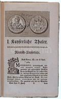 'Des Vollständigen Thaler Cabinert Dritte Vortsetzunk Herasugegeben Von David Samuel Von Madai' Königsberg és Lipcse, 17 - Zonder Classificatie