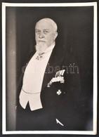 Procopius Béla (1868-1945) Numizmatikus, Athéni Nagykövet Fotója Kitüntetésekkel 1942-ből (176x127mm) / Photo Of Béla Pr - Zonder Classificatie