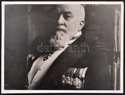 Procopius Béla (1868-1945) Numizmatikus Fotója, Kitüntetésekkel, Hátoldalon 'WANAUS JÓZSEF BUDAPEST, IV. SÜTŐ-U. 2.' Bél - Zonder Classificatie
