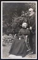Procopius Béla (1868-1945) Numizmatikus édesanyjával Fotó Képeslapja (138x86mm) / Photo Postcard Of Béla Procopius (1868 - Zonder Classificatie