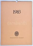 1983. 'Pénzjegynyomda Csipkenaptár' Falra Akasztható, Benne 4db Klf Különleges Csipkéből Kialakított Kép, A Pénzjegynyom - Zonder Classificatie