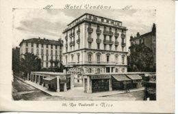 CPA -  NICE - HOTEL VENDOME - Cafés, Hotels, Restaurants