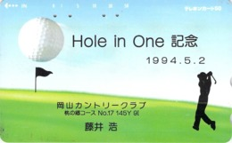 SPORT - GOLF -  HOLE IN ONE - Télécarte Japon - Comics