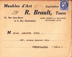 Meubles D'Art. R. Brault Tours. Usine Modèle & Magasins. à Maison Abrasifs Durex à Gennevilliers. 1941. - Frankreich