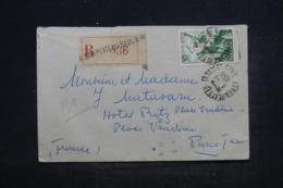 ALGÉRIE - Enveloppe En Recommandé De Alger En 1950 Pour Paris, Affranchissement Et Oblitération Plaisants - L 44303 - Covers & Documents