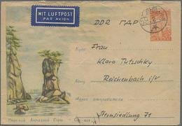 1959, 20 W. GA-Umschlag Mit Bild Von Hamhung In Die DDR, Absender DDR-Arbeitsgruppe Zum Wiederaufbau Von Hamhung - Korea (...-1945)