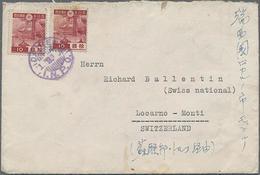 193?, Brief (etwas Fleckig) Mit 2x 10 Sn.rot Von Dairen In Die Schweiz - 1932-45 Manchuria (Manchukuo)
