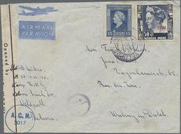 194?, 15 U. 50 C. Juliane Auf LP-Zensur-Brief Mit Veldpost-Stempel Vom Kamp RMG Nach Jena - Netherlands Indies