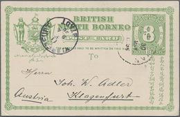 1896, 8 C. Ziffer Grün Von Sandakan Nach Klagenfurt, Ohne Text - North Borneo (...-1963)