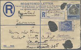 1939, 30 C. König Georg VI. Als ZuF Auf 30 C. Reg.-Letter-GA-Umschlag Von Mantare Mit Zahlreichen Durchgangsstempeln Nac - Africa (Other)
