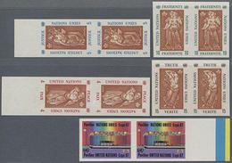 1967, 4-15 C. Expo Montreal In 5 Postfrischen Ungezähnten Paaren, Gummiseitig übl. Roter Security-Fingerabdruck - Stamps