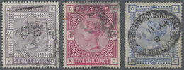 1883, Königin Victoria Im Großformat, 2/6 Sh/P, 5 U. 10 Sh., 3 Pra.stücke, Mi. 500.- - Ohne Zuordnung