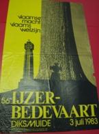Affiche Poster - 56° IJzerbedevaart Diksmuide 1983 - Illustr Luc Verstraete - Affiches