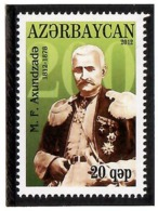 Azerbaijan 2012 . Writer M.F.Axundzade 1812-1878. 1v: 20qep . Michel # 941 - Azerbaiján