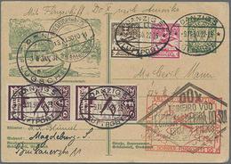 """1931,Danzig, 1.DO-X Überseeflug Europa-Amerika Auf 10 Pf. Bildpost-Ganzsache Werderlandschaft"""" Von Danzig Mit ZuF Ab Dan - Danzig"""