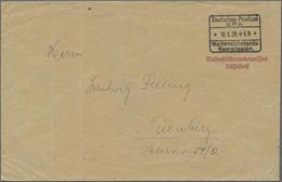 1920, Unfrankierter Brief Mit R5 Deutsches Postamt/SPA/10.1.20/ Waffenstillstandskommision Und Rotem L2 Waffenstillstand - Germany