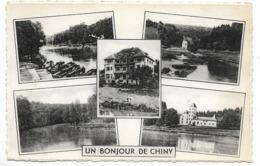 CPA PK  UN BONJOUR DE CHINY  MULTI VUES     HOTEL AUX COMTES DE CHINY - Belgique