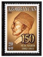 Azerbaijan 2012 .Poet M.A.Sabir 1862-1911. 1v: 20qep.  Michel # 942 - Azerbaiján
