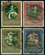 Russia 1914 War Help,Ilya Muromets,Horse,Orphan,St. George,Dragon,Mi.99-02,VFU - 1857-1916 Imperium