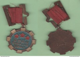 Cina China Medal 勋章 1947 Medaglia - Medaglie