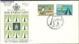 South Korea 1967 Mi 588-589 FDC ( FDC ZS9 SKA588-589 ) - Puentes
