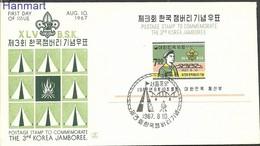 South Korea 1967 Mi Bl258 FDC ( FDC ZS9 SKAbl258 ) - Movimiento Scout