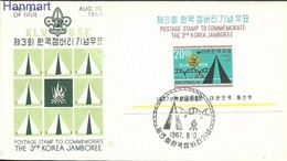 South Korea 1967 Mi Bl259 FDC ( FDC ZS9 SKAbl259 ) - Movimiento Scout
