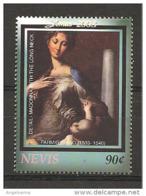 NEVIS - 2003 PARMIGIANINO Madonna Dal Collo Lungo, Madonna Con Bambino (Uffizi, Firenze) Nuovo** MNH - Madonnas