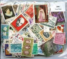 2000 Timbres Tous Pays - Briefmarken