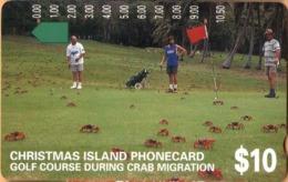 Christmas Island - Telstra, Anritsu, Golf Course During Crab Migration, 10 $, 15,000ex, 12/94, Used - Christmas Island