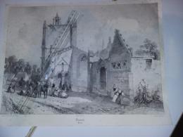 Penmarch  Lithographie Eug.  Cicéri   Dessin  A. Mayer  , Imp. Lemercier  , Vers 1845 Visuel Env 24,3 X 34 Cm - Prints & Engravings