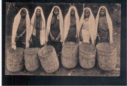 CEYLON  Six Women With Tea Backets  1922 Old Postcard - Sri Lanka (Ceylon)