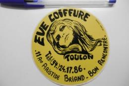 """Autocollant Stickers - Coiffeur Salon """"EVE COIFFURE"""" à TOULON 83 VAR - Autocollants"""