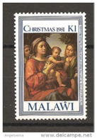 MALAWI - 1981 PAOLO MORANDO Madonna Con Bambino, S. Giovannino E Un Angelo (National Gallery, Londra) Nuovo** MNH - Madonnas