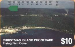 Christmas Island - Telstra, Anritsu, Flying Fish Cove, 10 $, 22,500ex, 1/94, Mint Unused - Christmas Island