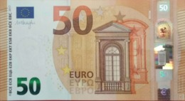 EURO ESLOVAQUIA(EB) 50 Euros E008, DRAGHI, UNCIRCULATED - EURO