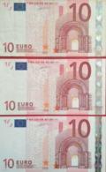 10 Euros De La Primera Firma De Duisemberg, Plancha G002,G003,G005,letra V De España - EURO