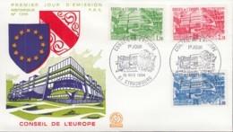 FRANKREICH, EUROPARAT 34-36, FDC 1984 - Europa-CEPT