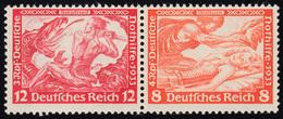 W 55 Nothilfe/Wagner-Zusammendruck 12+8 Pf, ** Fingerspuren - Zusammendrucke