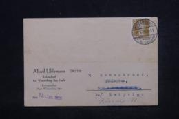 ALLEMAGNE - Carte Commerciale De Wittenberg Pour Leipzig  En 1928, Affranchissement Plaisant - L 44316 - Deutschland