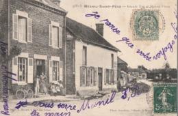 MESNIL SAINT PERE - LA GRANDE RUE ET LA MAISON PITOIS - CARTE ANIMEE - 2 SCANNS - - France