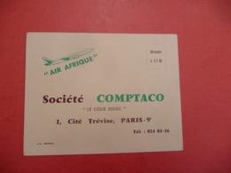 BOEING AIR AFRIQUE  Plantation ANANAS Afrique Noire ( Cité Trévise Paris 9 - Advertising