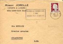 48268 France, Special Postmark 1961 Evreux, Thomer La Sogne Eure Grand Prix D'europe Motocross - Motorbikes
