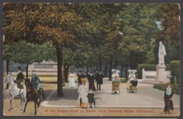 """""""Berlin"""", Siegesallee, Farbig, 1909 Gelaufen - Mitte"""