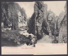 """""""Edmundsklamm"""",""""Tyssaer Wände"""", Sächs. Schweiz, 2 Versch. Karten, Ca. 1910 - Allemagne"""