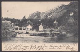 """""""Oberammergau"""", Am Wehr, 1906 Gelaufen - Oberammergau"""