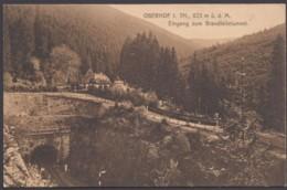 """""""Oberhof"""", Eingang Brandleitetunnel, 1911 Gelaufen - Oberhof"""
