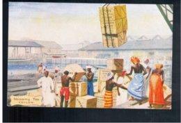 CEYLON Liptons Tea Series - Shipping Tea  Old Postcard - Sri Lanka (Ceylon)
