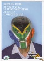 AUTOCOLLANT DU CONSEIL GENERAL DE LA SEINE ST DENIS - COUPE DU MONDE DE RUGBY 2007 - COULEUR DE L'AFRIQUE DU SUD - Publicidad