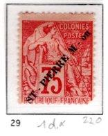 Ex Colonie Française  * St Pierre Et Miquelon *   Poste  29  N* - France (ex-colonies & Protectorats)